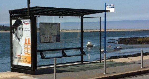 Bus stop in Porto
