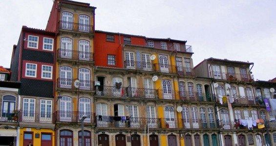 The Ribeira picturesque and colourful houses.